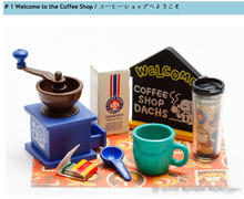 Japanese Original Coffee shop Coffee Machine candy food toy sylvanian families Re ment size Kids Toy(China)