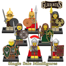 Building Blocks Action Figures Gladiatus Warriors Hero of Sparta Star Wars Superhero Batman Set Bricks Kids Educational DIY Toys