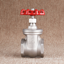 "1/2"" DN15 DN20 DN25 Manual Globe valve Stainless Steel 304 Female thread Straight through Gate valve hard seal stop valve(China)"