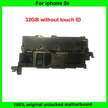 32GB Original Full Function Motherboard For iPhone 5S Without touch ID Unlocked Mainboard With Chips IOS System Logic Board