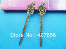 Long Heavy Good Quality Antique bronze Phoenix Hair Combs & Sticks/Kanzashi/Bookmark Pendant Charm/Finding,DIY Accessory