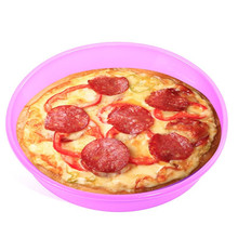 Arsmundi 1 piece Round Silicone Pizza Pan Baking Tray Microwave Cake Oven Baking Dish Bread Plate Kitchen Tools