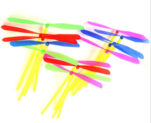 10pcs/lot  Novelty Plastic Bamboo Dragonfly Propeller Outdoor Toy Kids Gift Flying