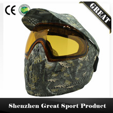 Leaves or Tan Digi Camo Tactical Military PAINTBALL MASK with Visor and DYE I4 Thermal Lens(China)