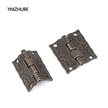 20pcs 25*23mm Antique Bronze Hinges Cabinet Door Drawer Decorative Mini Hinge For Jewelry Storage Wooden Box Furniture(China)