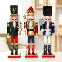 nutcracker puppet flannelette soldiers vintage home decor christmas decorations wooden figurine 3pcslot 30cm
