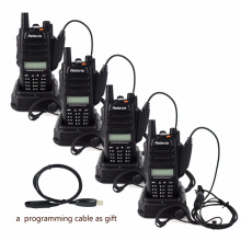 4pcs IP67 Retevis RT6 Professional Waterproof Walkie Talkie 5W 128CH VHF UHF FM Radio Scan Handheld Radio Transceiver+Cable