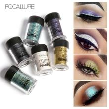 New FOCALLURE Glitter Metallic Powder Eyeshadow Single Color Pigment Waterproof Shimmer Eye Shadow Powder Make Up YE2(China)