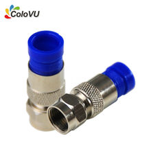 2pcs RG6 Pure Copper F-Type Waterproof Connector for LNB / Satellite Receiver / Dish / DiSEqC Switch Coax Compression Cable(China)