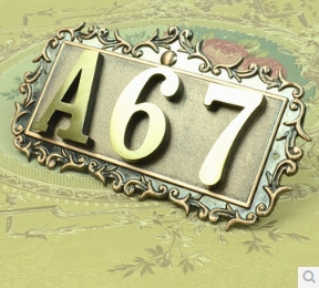 Three Digits House number Pure copper word  Household villa house Archaize street number,gate number<br><br>Aliexpress