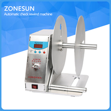 ZONESUN Digital Tag Rewinder,Automatic Label Rewinder for printing,speed regulable Sticker Tags Barcode rewinder220V or 110V