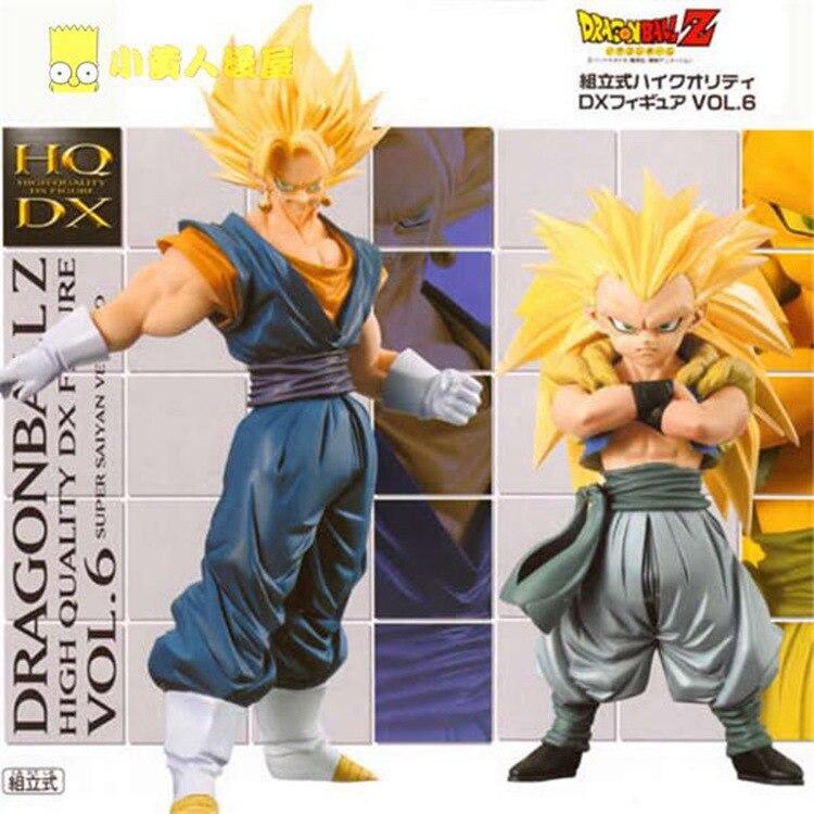 Hot ! NEW 2pcs/set 17cm dragonball dragon ball Super Saiyan Gogeta Gotenks Son Goku Kakarotto action figure toys Christmas doll<br>