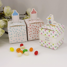 100 Pcs Cute nursing feeding bottle baby shower party Wedding favor paper box favour gift box birthday candy box sweet love box