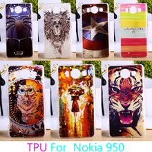 AKABEILA Soft TPU Phone Cases For Microsoft Nokia Lumia 950 N950 Case Colorful Hard Back Cover Housing Sheath Shells Hoods Bag(China)