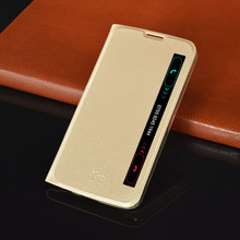 Slim Phone Bag Shell Smart View Auto Sleep Flip Cover PU Leather Holster Case For LG K10 K420N 5.3 inch(China)
