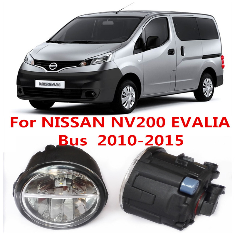 For NISSAN NV200 EVALIA Bus  2010-2015 White Fog Lamps Lights 6000K  2 PCS<br><br>Aliexpress
