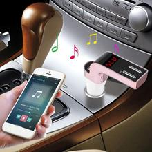 New Arrival Bluetooth Car Kit Handsfree LCD FM Transmitter Radio Adapter MP3 Player Dual USB Charger SD Remote apr14