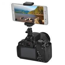 Camera Phone Bracket Holder Clip Tripod Mount Adapter with 360 Ball Head for iPhone Samsung Universal(China)