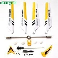 Crash Pack CHAMSGEND New Full Set Replacement Spare Parts for S107 RC Helicopter Propeller Blade High Quality Feb28