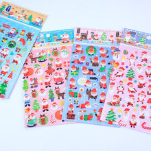 cute santa claus scrapbooking stickers 3d epoxy christmas stickers decor bullet journal stickers(China)