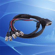 Rondaful VGA Male to 5 BNC Male Adapter Cable Data Transmission Line VGA Cable BNC Cables