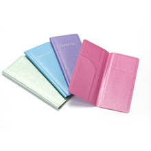 JULY'S SONG Designer Good PU Leather Women Passport Cover Pearl Color Leather Business Passport Holder Pasport Passport Case
