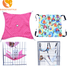 Small Pet Dog Hammock Goods Rat Rabbit Hamster Cat Cage Hammocks Hanging Bed Cage Supplies Accessories S M L DOGGYZSTYLE(China)