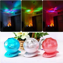 Aurora Master Night Light Speaker LED Projection Lamp Color Changeable Ocean Waves Projection Northern Lights Romantic Decor