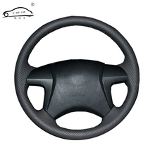Artificial Leather car steering wheel braid for Toyota Highlander Toyota Camry 2007-2011/Custom made Steering cover(China)