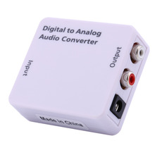 Digital to Analog Audio Converter Adapter of  Optical Coaxial Toslink Signal to Analog Audio Converter Adapter RCA Cable USB 2.0