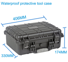 High quality Waterproof tool case toolbox Protective Camera Case Instrument box suitcase with pre-cut foam lining 371*258*152mm(China)