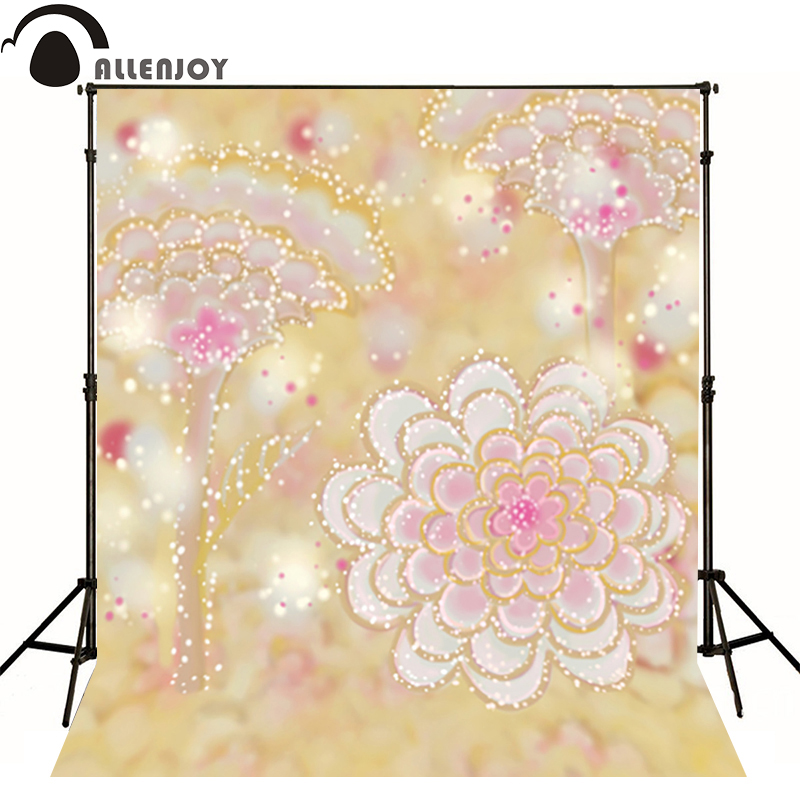 Allenjoy photography backdrops Golden flower nobility blur flower photo background newborn baby photocall romantic<br><br>Aliexpress