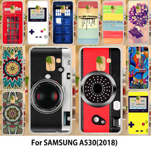 AKABEILA Case For Samsung Galaxy A5 2018 Cases Silicone TPU Covers Duos with dual-SIM card slots A530F A530F/DS Painted Cover(China)