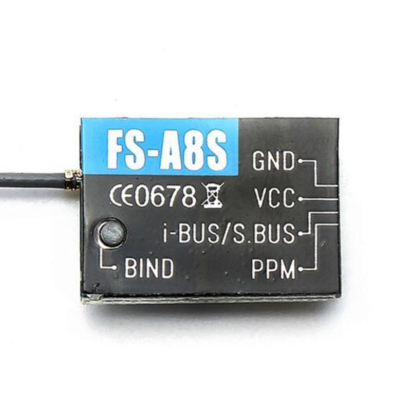 3pcs/lot Flysky FS-A8S 2.4G 8CH Mini Receiver with PPM i-BUS SBUS Output For RC Quadcopter FS-i4 FS-i6 FS-i6S FS-i6X FS-i10<br><br>Aliexpress