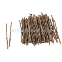 100Pcs Natural Camellia Wood Stick Branch for DIY Art Craft Decor Pet Mouse Rabbit Snacks Tree Branch Chew Play Toy