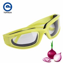 1Pc Kitchen Accessories Onion Goggles Barbecue Safety Glasses Eyes Protector Face Shields Cooking Tools Green Color(China)