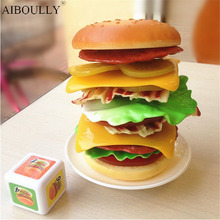 Super recommend new pattern burger eaters toy hamburger music fun game balance high layers of the stack