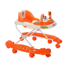 Baby Walker Adjustable Baby Walker Stroller Multifunction Foldable Playing Baby Walker Seat Infant Toddler Learn Walking Aid
