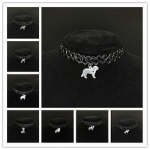 WLP cheapest price pet jewelry silver dog necklaces women fashion dog pendant necklace for pet lovers' charm choker necklaces(China)