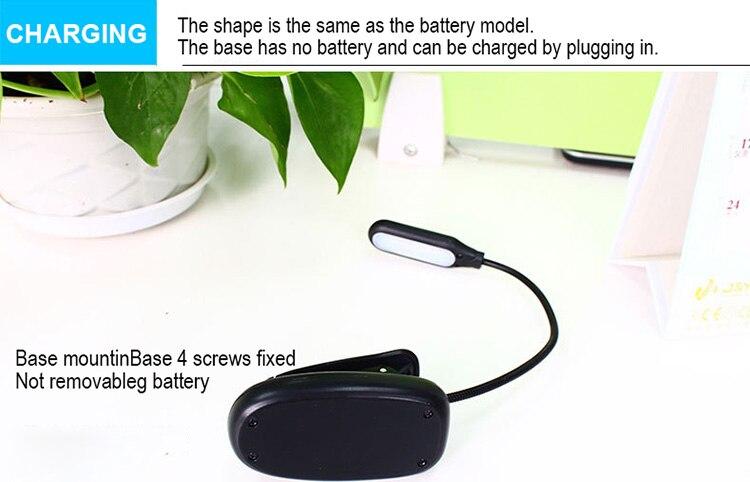 DE.SOUL Third Gear Adjustment Light Source LED Book Light Clip 360 Degree Flexible Charging Book Lamp Travel Beside Reading Lamp (13)