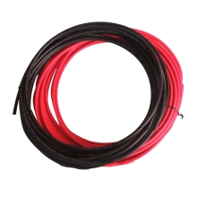20m 4mm2 12AWG Solar Cable,10 meter black negative connect 10m red positive connect(China)