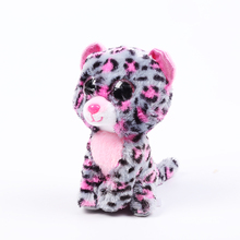 Ty Beanie Boos Big Eyes Plush Toy Doll 10 - 15cm Pink Leopard TY Baby For Kids Brithday Gifts