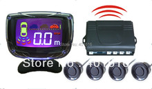Car Reverse Camera Wireless Parking  Sensor Alarm Kit With LCD Monitor DT500-W freeshipping