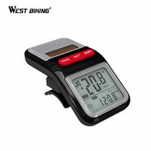 WEST BIKING Bike Computer 1 Pcs LCD Solar Power Bicycle Speedometer Pedometer Odometer Bike Cycle Bicycle Cycling Computer