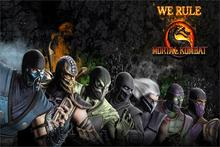 DIY frame Video Game Mortal kombat 9 Smoke,Reptile,Scorpion,Noob Saibot characters of the game Fabric silk art all in 1 poster(China)