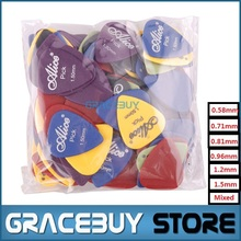 100pcs Single/ Multi Thickness Guitar Picks Plectrum Assorted Colors Guitarra Puas Palheta Musical Instrument(China)