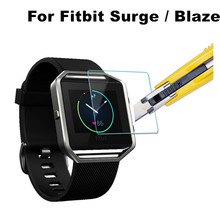 Ultra Thin 0.2mm 2.5D Premium Tempered Glass Screen Protector For Fitbit Surge Blaze Smart Watch HD Toughened Protective Film