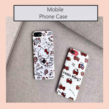 Cutie Hello Kitty Case IMD Soft TPU Skinny Cover Case For 7/7plus 6/6s and 6plus/6s plus Mobile Phone Skin Body Protector Case(China)