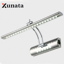 LED Mirror Front Light 7W 5W SMD 5050 3014 bathroom modern pouplar Bath Wall Lamp Stainless Steel White/warm white(China)