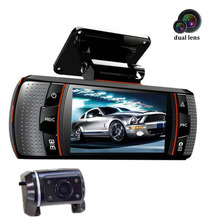 170 Degree Allwinner A1 Dual lens Camera Car DVR 2.7 inch LCD Night vision video recorder camcorder with rear view camera